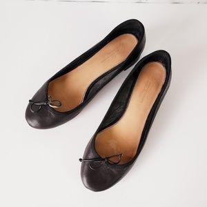 Badgley Mischka Womens Black Ballet Heel Leather 8